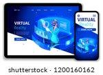 website template business... | Shutterstock .eps vector #1200160162