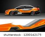 car decal wrap design vector.... | Shutterstock .eps vector #1200162175