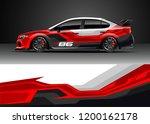 car decal wrap design vector.... | Shutterstock .eps vector #1200162178