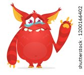 crying cute monster cartoon....   Shutterstock .eps vector #1200166402