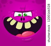 monsters face cartoon creature... | Shutterstock .eps vector #1200166528