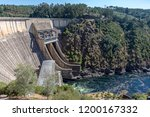 electric dam view from the top  ... | Shutterstock . vector #1200167332