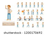 vector young adult man in... | Shutterstock .eps vector #1200170692