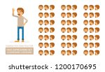vector young adult man in... | Shutterstock .eps vector #1200170695