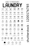 laundry guide vector icons ... | Shutterstock .eps vector #1200176785