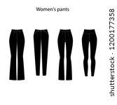 women's pants template... | Shutterstock .eps vector #1200177358
