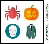 scary icon. costume and spider... | Shutterstock .eps vector #1200179932