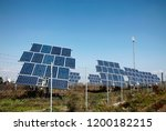 solar panels placed on a... | Shutterstock . vector #1200182215