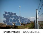 solar panels placed on a... | Shutterstock . vector #1200182218
