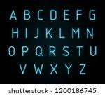 neon font alphabet. vector. | Shutterstock .eps vector #1200186745