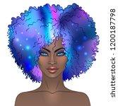 african american pretty girl.... | Shutterstock .eps vector #1200187798