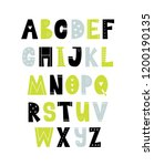 vector poster with alphabet for ... | Shutterstock .eps vector #1200190135