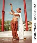 beautiful asian young woman in... | Shutterstock . vector #1200190255