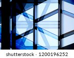 glass wall with aluminum or... | Shutterstock . vector #1200196252