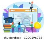 distance education  online... | Shutterstock .eps vector #1200196738