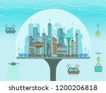 futuristic eco city under the... | Shutterstock .eps vector #1200206818