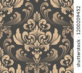 vector damask seamless pattern... | Shutterstock .eps vector #1200209452