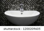 white sink   wash basin with... | Shutterstock . vector #1200209605