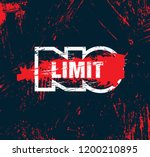 no limit. inspiring workout and ... | Shutterstock .eps vector #1200210895