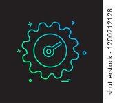 setting gear icon design vector | Shutterstock .eps vector #1200212128