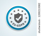 eu gdpr confirm button... | Shutterstock .eps vector #1200213382