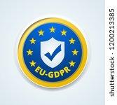 eu gdpr confirm button... | Shutterstock .eps vector #1200213385
