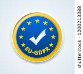 eu gdpr confirm button... | Shutterstock .eps vector #1200213388
