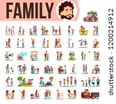 family set vector. lifestyle... | Shutterstock .eps vector #1200214912