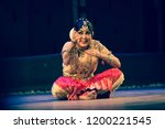 legendary senior bharatnatyam... | Shutterstock . vector #1200221545