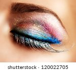 eye makeup. beautiful eyes... | Shutterstock . vector #120022705