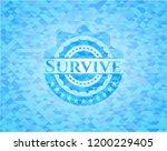 survive light blue emblem with... | Shutterstock .eps vector #1200229405
