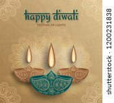 greeting card for diwali... | Shutterstock .eps vector #1200231838