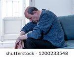 overwhelmed old senior man... | Shutterstock . vector #1200233548