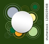 abstract colorful circle... | Shutterstock .eps vector #1200235408
