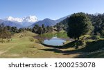 deoria tal is a lake about 3 km ... | Shutterstock . vector #1200253078