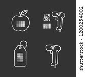 barcodes chalk icons set.... | Shutterstock .eps vector #1200254002