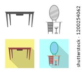 isolated object of furniture... | Shutterstock .eps vector #1200254062
