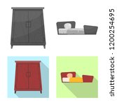 vector design of furniture and...   Shutterstock .eps vector #1200254695