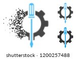 tuning options gear icon in... | Shutterstock .eps vector #1200257488