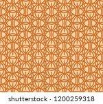 brown tracery on beige ... | Shutterstock .eps vector #1200259318