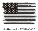 black and white american flag... | Shutterstock .eps vector #1200263632
