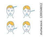 plastic surgery color icons set.... | Shutterstock .eps vector #1200268012