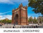 arco del triunfo barcelona... | Shutterstock . vector #1200269482