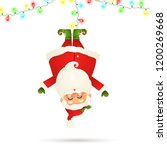 smiling santa claus cartoon... | Shutterstock . vector #1200269668