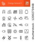 energy line icons | Shutterstock .eps vector #1200273448