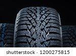 set of new winter tires on... | Shutterstock . vector #1200275815