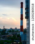 sunset from the skyscraper... | Shutterstock . vector #1200280018