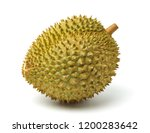 lsolated durian on white... | Shutterstock . vector #1200283642
