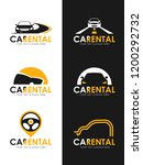 car rental logo sign whit black ... | Shutterstock .eps vector #1200292732