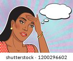 african american fatigue woman... | Shutterstock .eps vector #1200296602